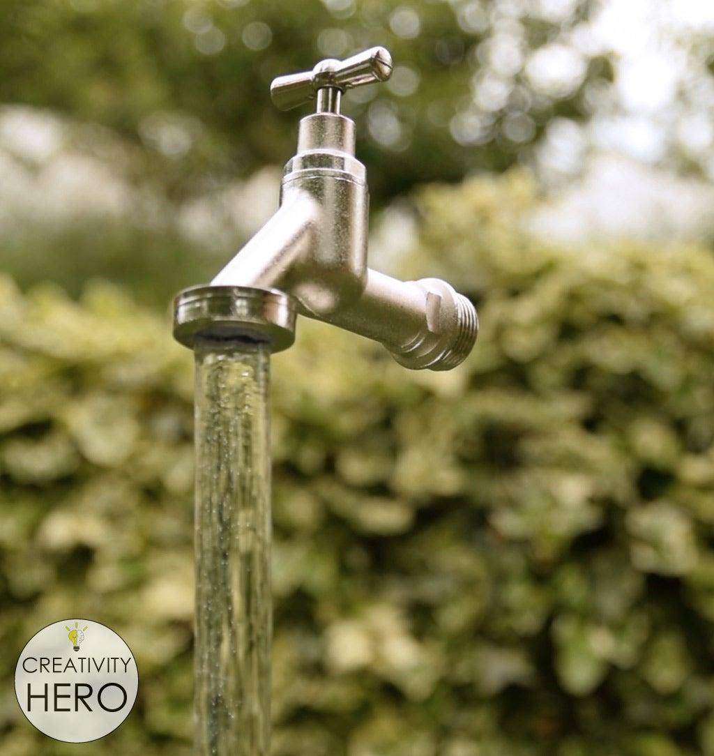Enjoying the Magic Faucet Fountain.