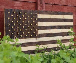 Shou Sugi Ban American Flag