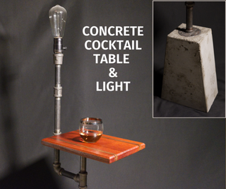 How to Make a Concrete Cocktail Table & Light