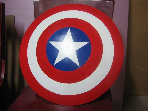 Captain America Shield From Used Satellite Dish