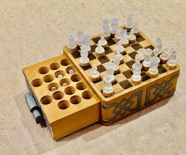 Crystal Medieval Chess Drawer Set (3D Printed)