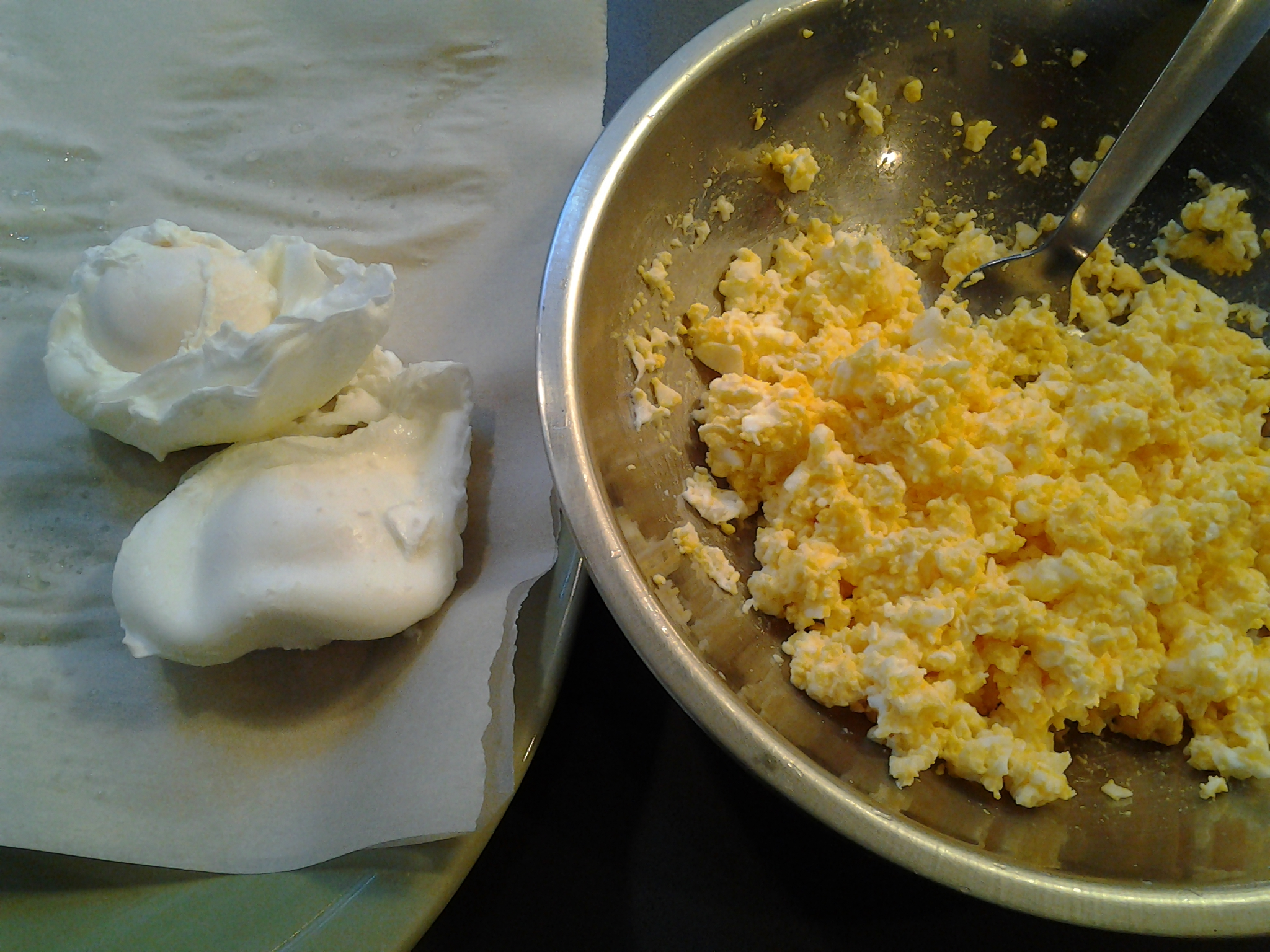 Another way to get eggs ready for egg salad!