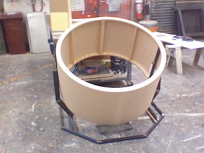Skin Drum With MDF (and Drill Holes)
