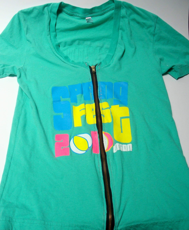 Trendy Zipper Shirt