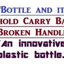 Repair bag handle using a plastic bottle and its cap. A creative use of used plastic bottle