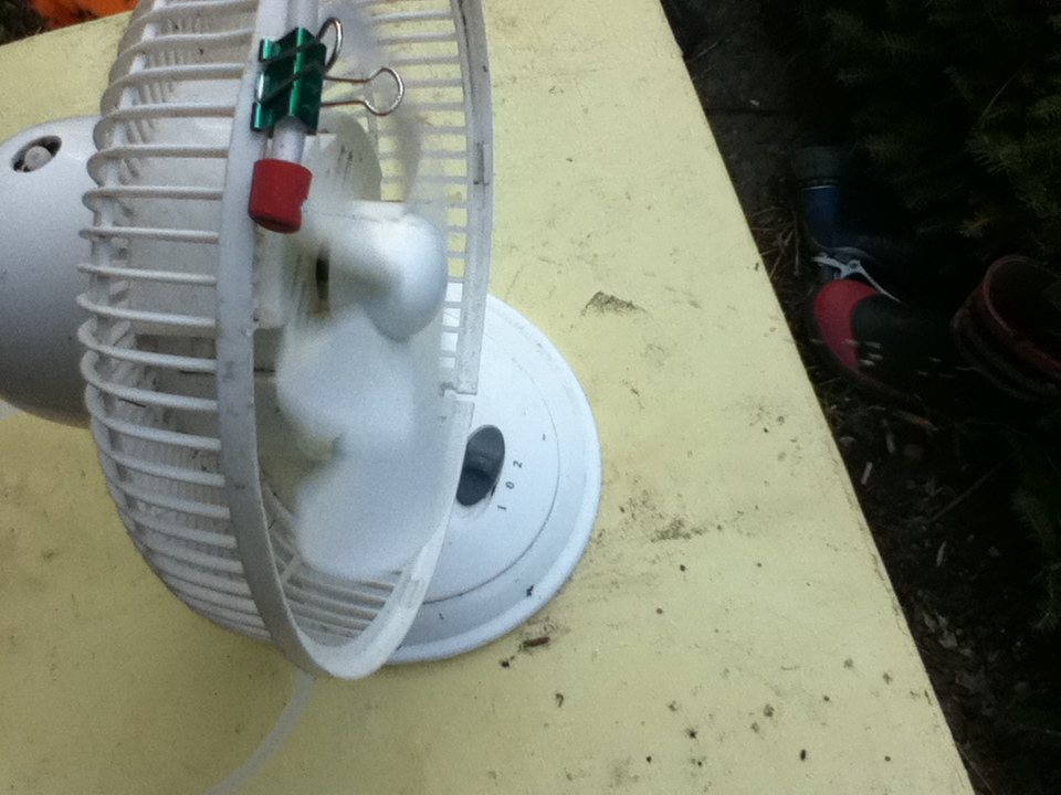 Misting Fan from scavenged parts