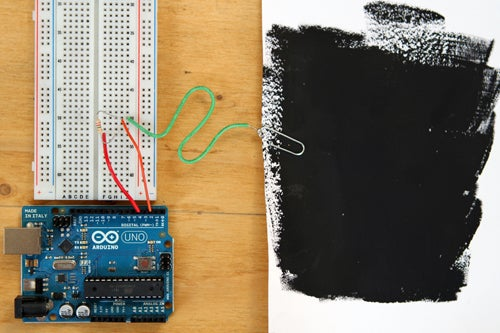Building a Capacitive Proximity Sensor Using Bare Paint