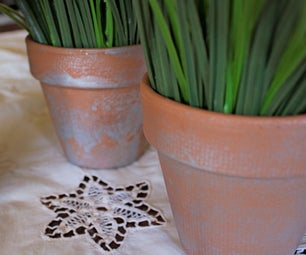Shabby Flower Pots
