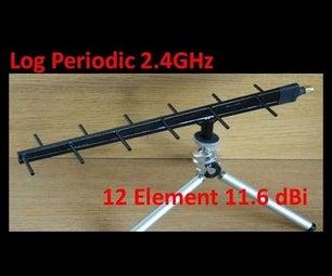 Log Periodic 2 4GHz 11 6dBi
