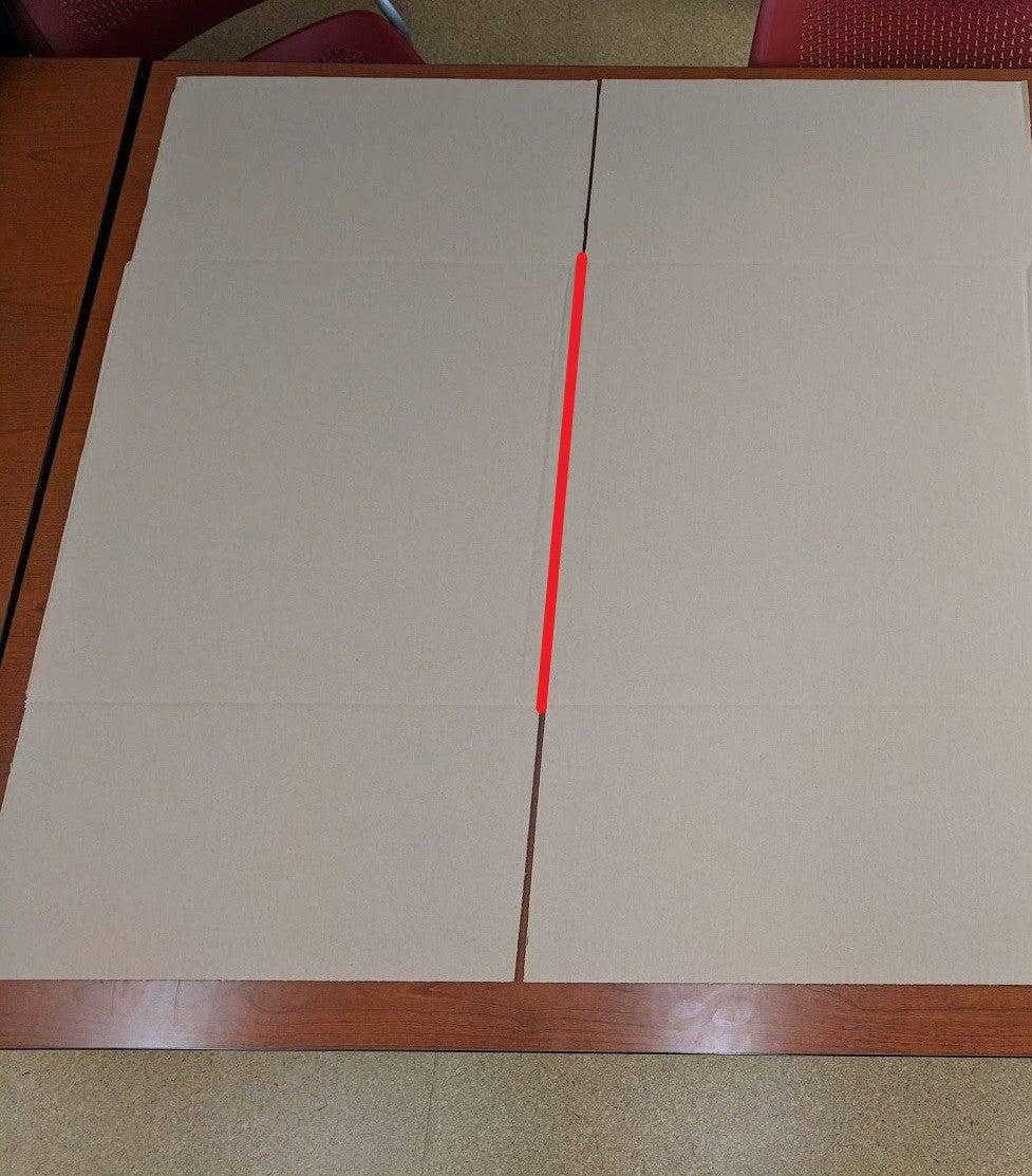 Cut 1 Corner of the Box