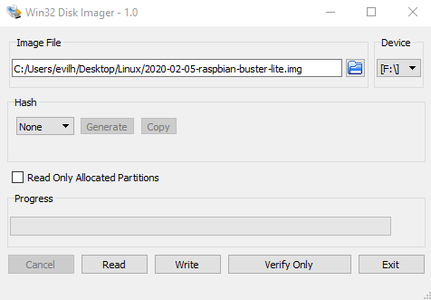 Install the Raspbian Buster Lite