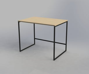 Minimalist Black Steel Desk