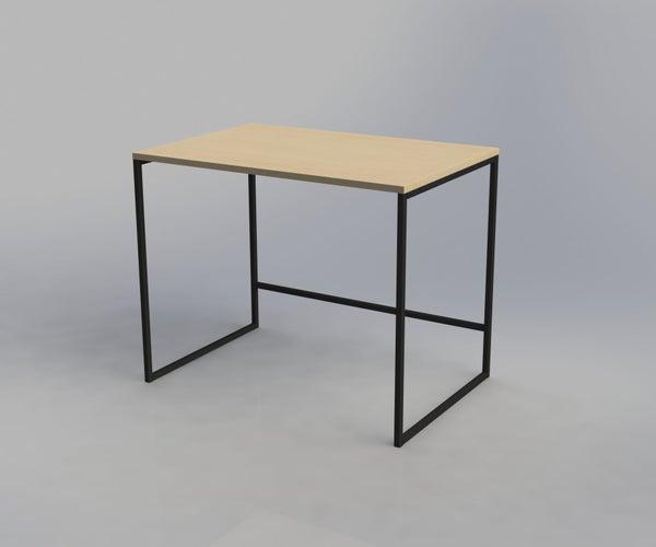 Minimalist Black Steel Desk