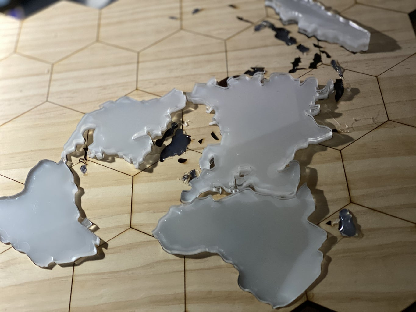 Azimuthal Projection 3D Map Decoration X Folk Music Puzzle Game - Arduino