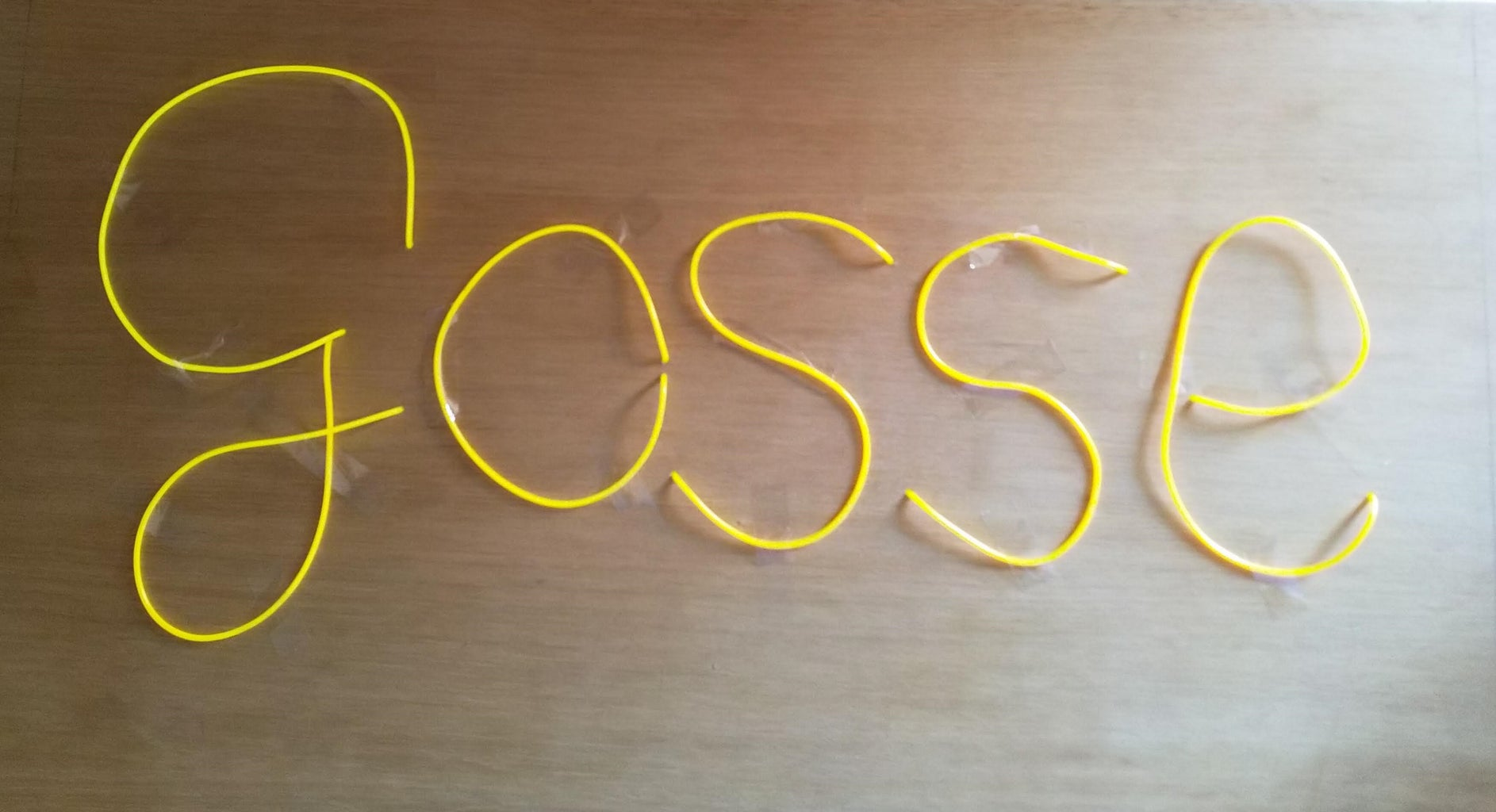 EL Wire Name Sign