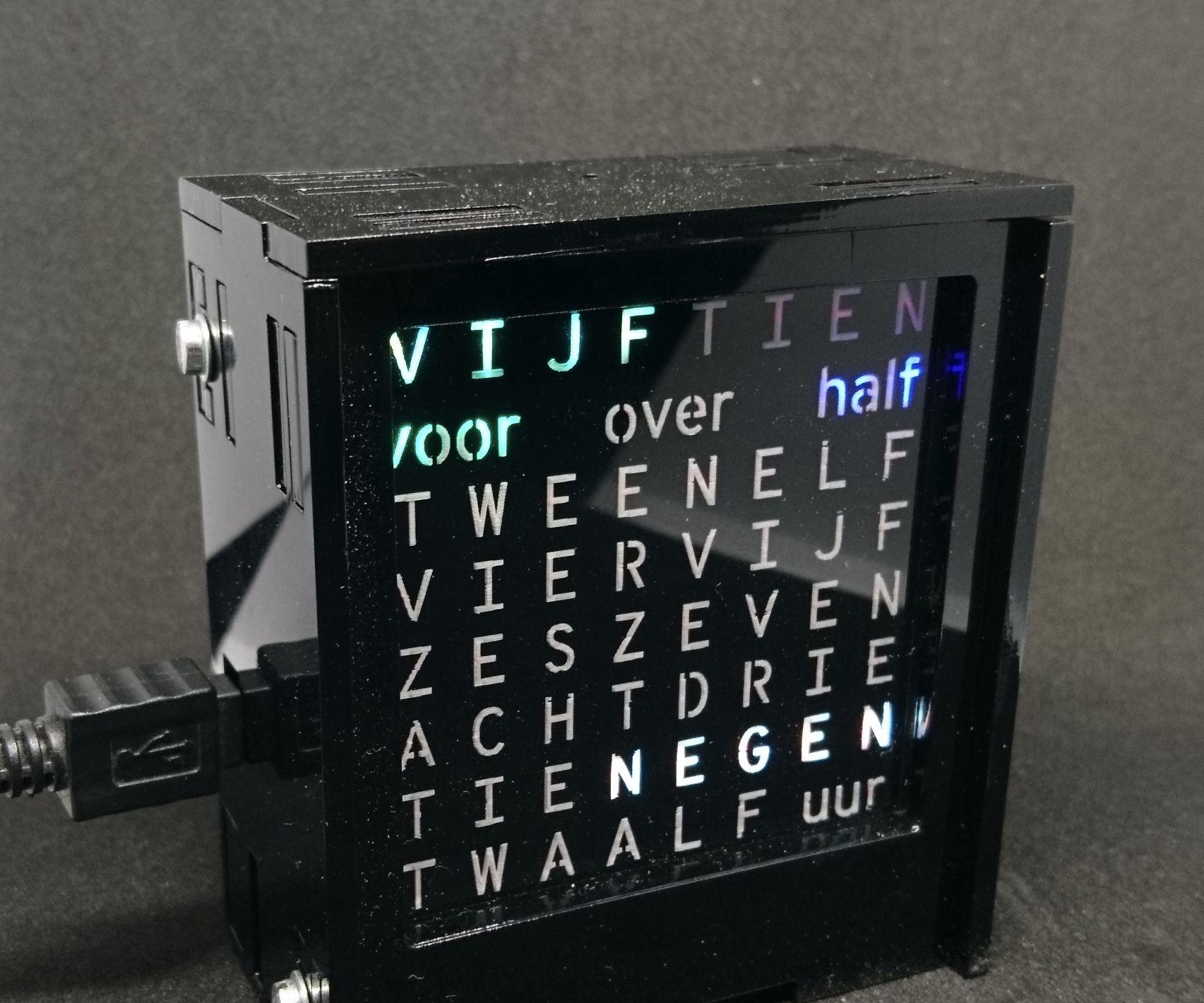 Dutch 8x8 Word Clock