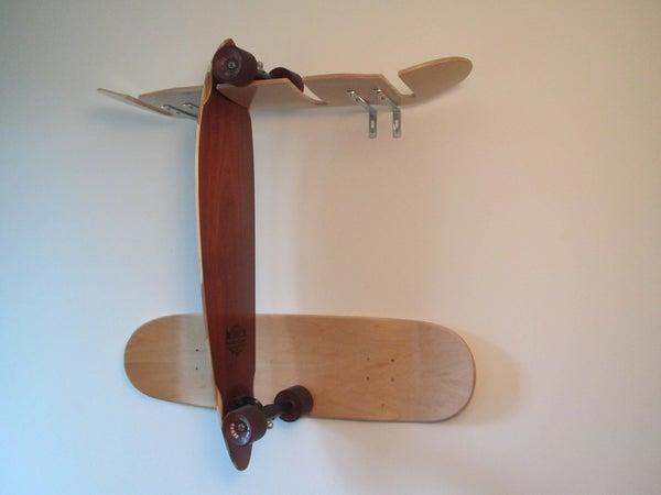 Skadeboard Rack Made From Skateboarddecks