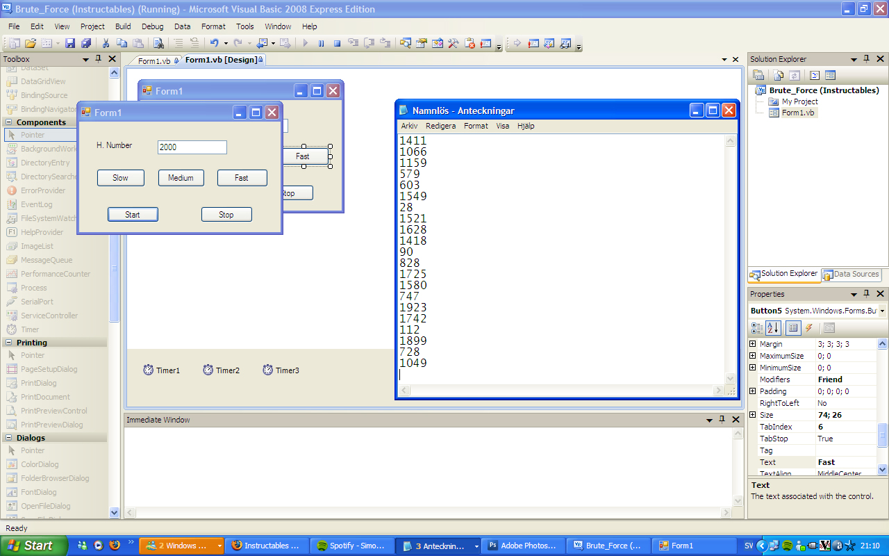 How to write a Brute Force for numbers (Visual BASIC 2008 Express)