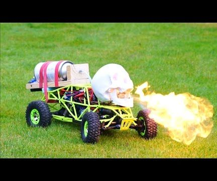 DIY Fire Breathing Halloween Skull - Remote Controlled