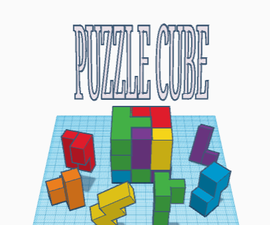 3D Puzzle Cube - Tinkercad