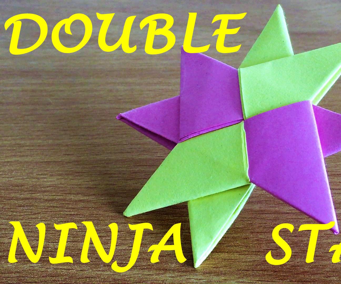 How to Make a Double Ninja Star Shuriken Origami