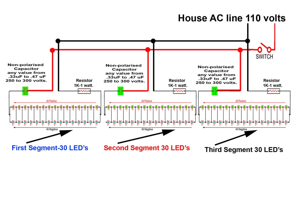 LED TUBE LIGHT (AC) : 3 Steps - Instructables | Tube Light Wiring Diagram |  | Instructables