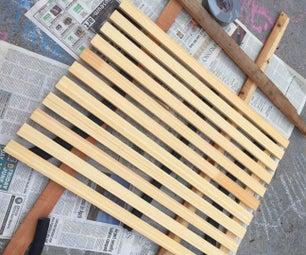 再生的便携式木制淋浴垫