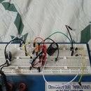 LM386 based amplifier with sound sensitive LEDs