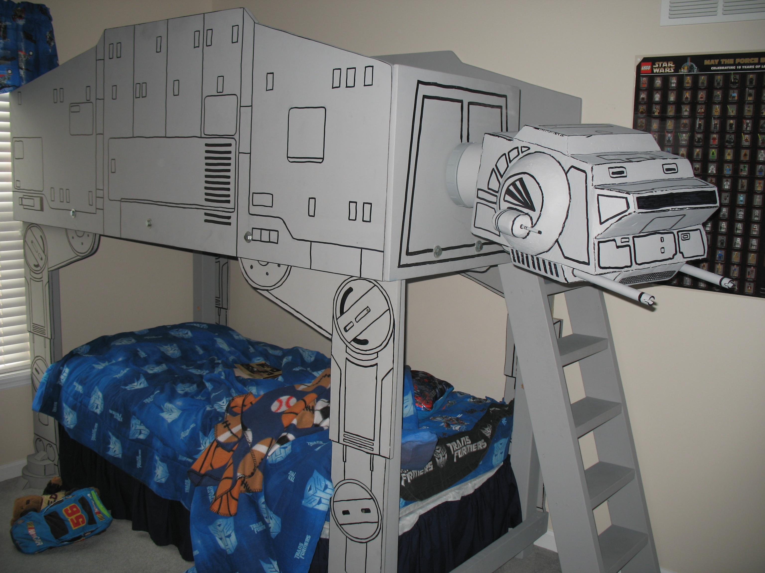 Star Wars At At Imperial Walker Loft Bed With Pictures Instructables
