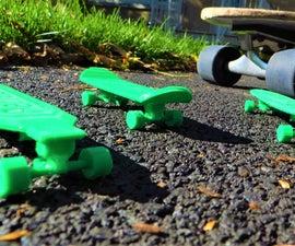 Custom 3D Printable Skateboard Models!