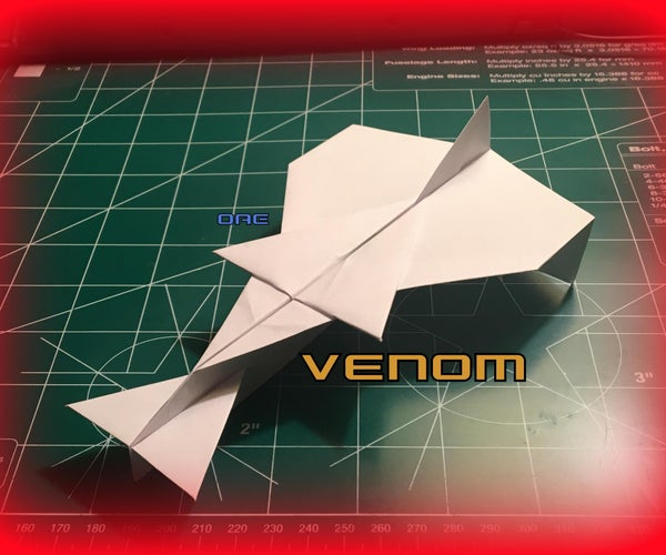 How to Make the Venom Paper Airplane