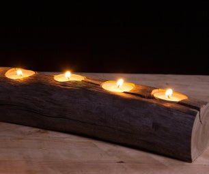 Applewood Candle Holder Centrepiece
