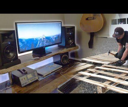 DIY Pallet Wood Resin Desk With Smart LEDs!
