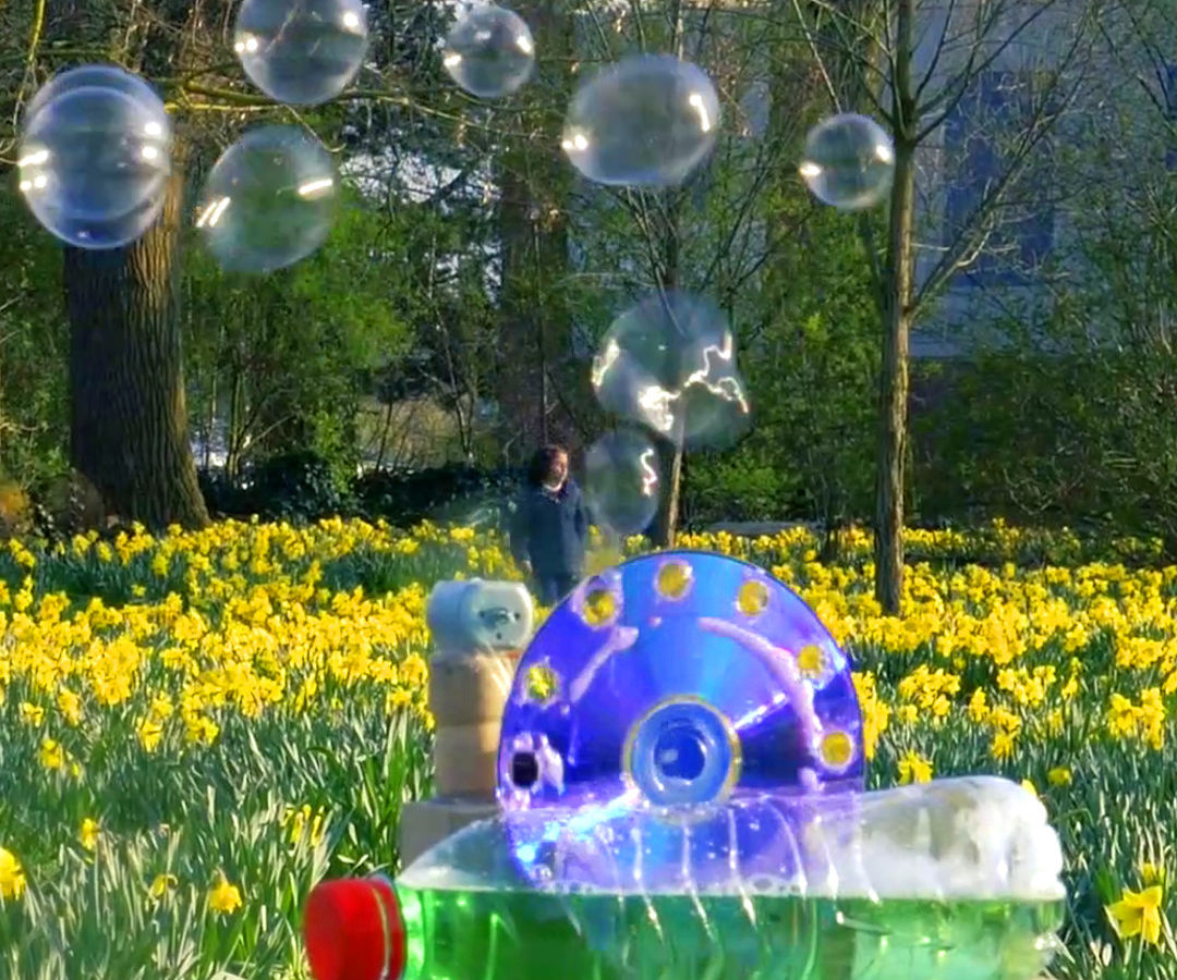 Bubble Machine From Trash
