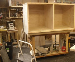 Heavy Duty, Mobile Shop Cart From a Sheet of Plywood