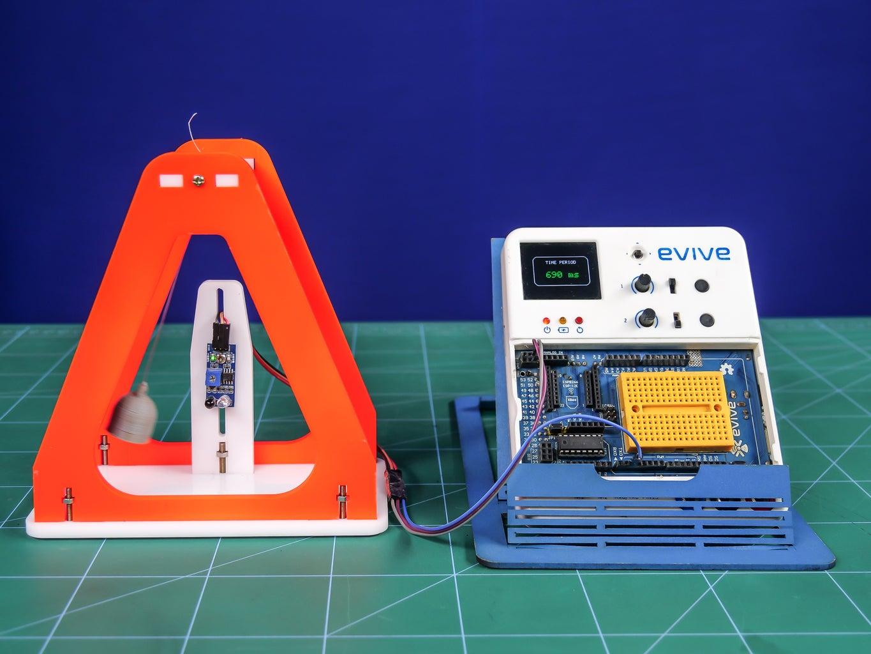 Measuring Time Period of a Pendulum Using IR Sensor