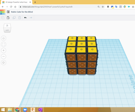 3D Printed Rubix Cube for the Blind or Color Blind