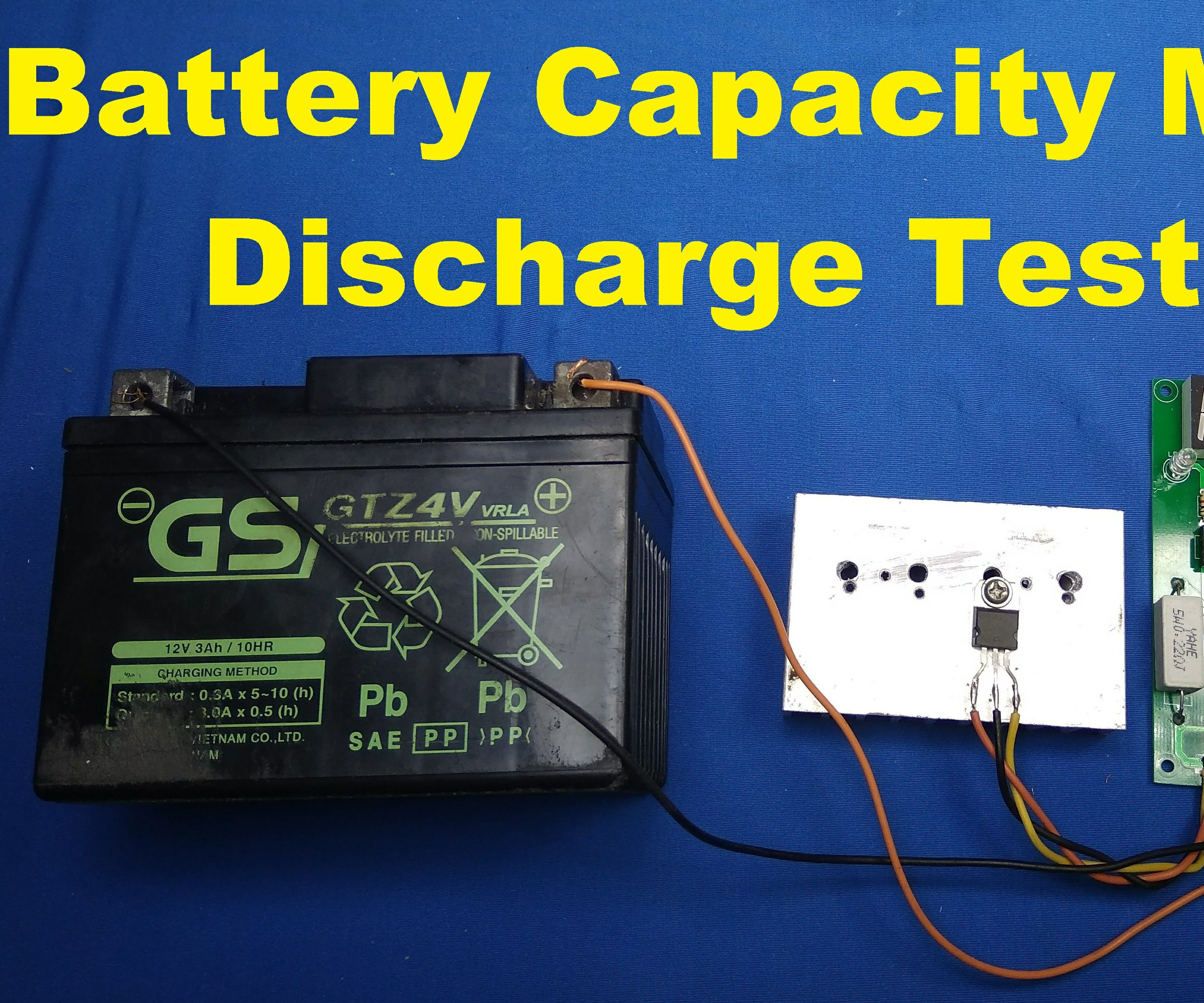 Battery Capacity Meter Discharge Tester | Battery Tester