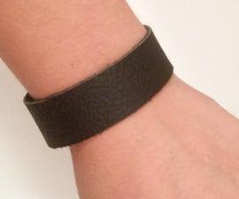 Easy DIY Leather Bracelet