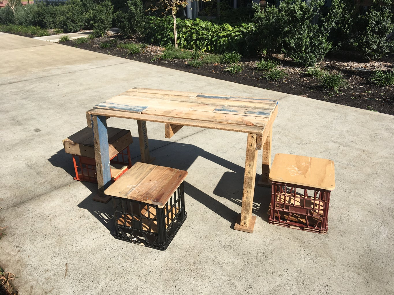 Upcycled Table and Chair Set