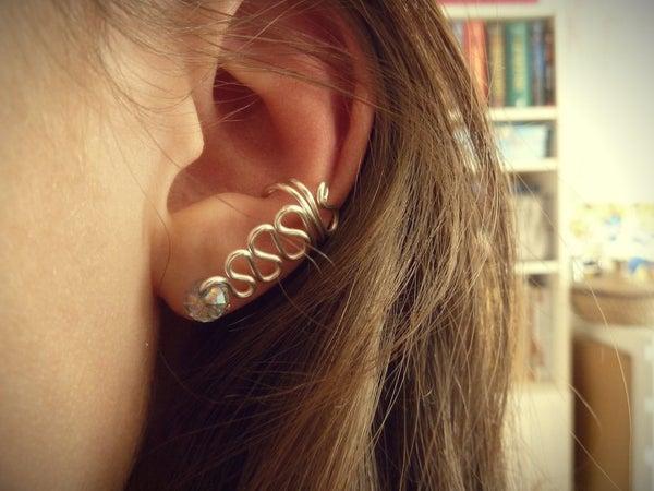 Swirled Wire Ear Cuff