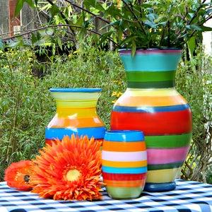 Striped Spring Vases