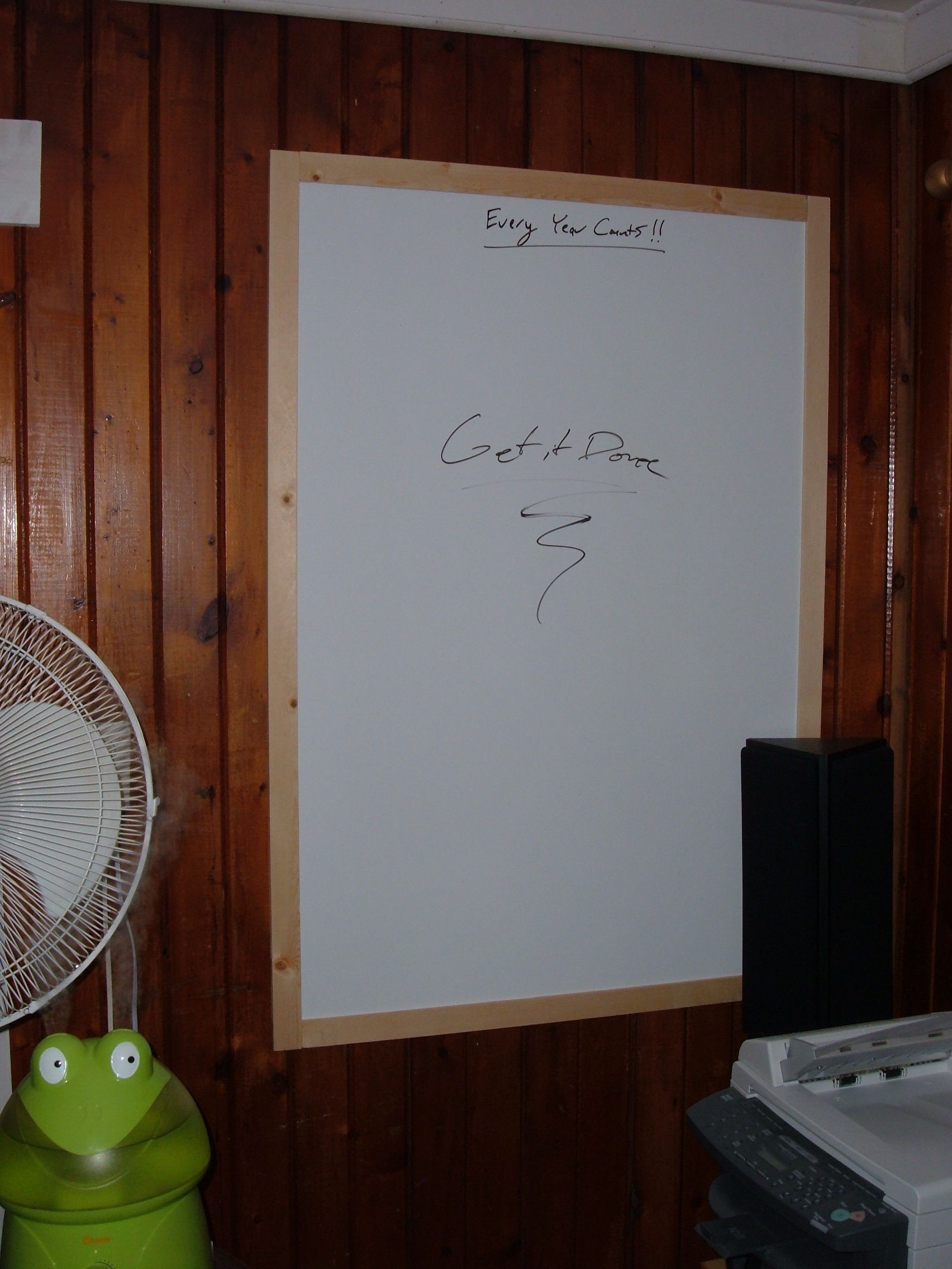 Homemade Whiteboard