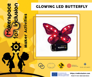 Glowing LED Butterfly