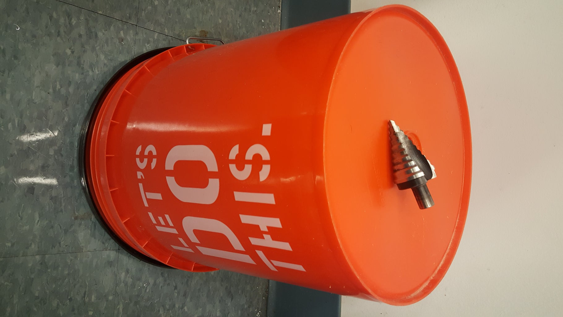 Finish Lid and Bucket: Deburr Holes
