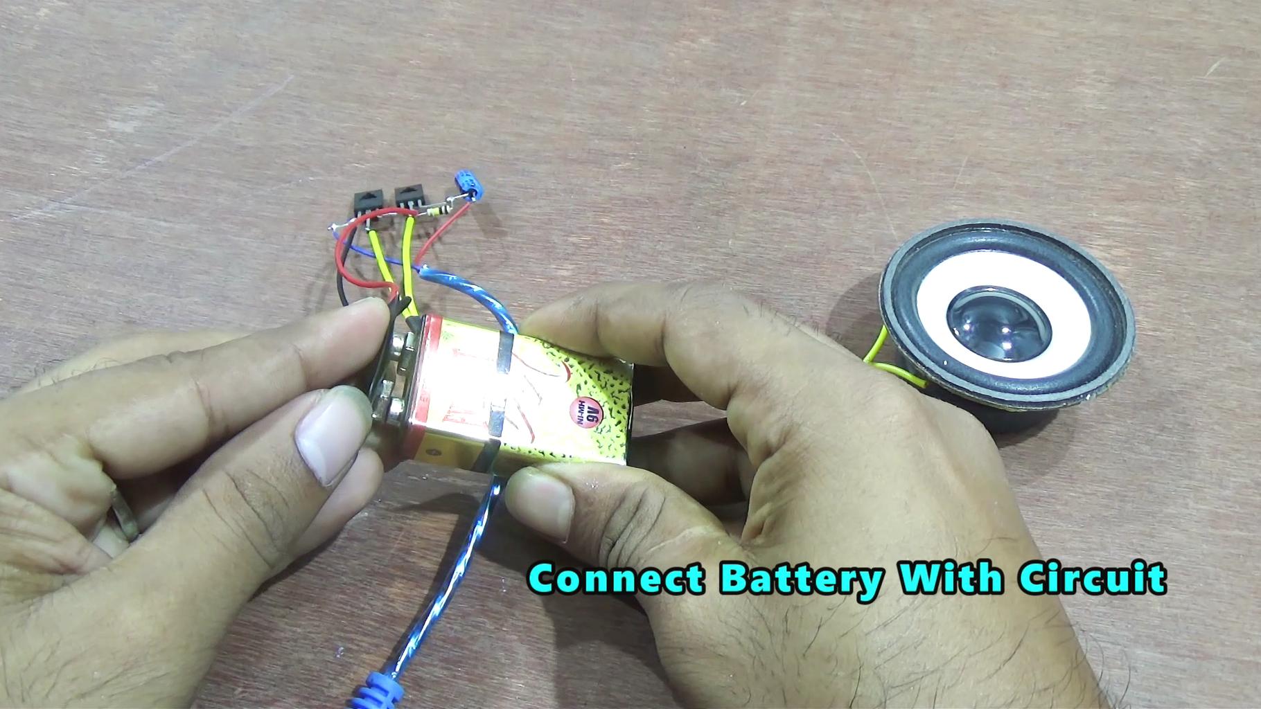Mini Amplifier Circuit Using Transistor