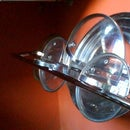 Pots and pans lid rack -- Easy Peasy