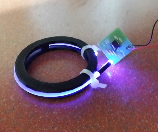 Wireless Powered Bling Diffused With Sideglow Fiber Optics : Project You Are the ONE