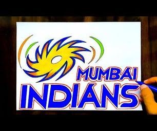 HOW TO DRAW MUMBAI INDIANS LOGO