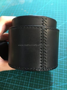 Sew Main Body Use Cross Stitching, and Sew Bottom Round Piece With Main Body, Here I Add Stitching on Top Opening to Make This Box Nice Looking.
